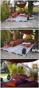 Terrasse Aus Europaletten : gulv p terrasse bygget op af paller paletten holz pinterest ~ Orissabook.com Haus und Dekorationen