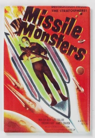 missile monsters  poster fridge magnet  sci fi