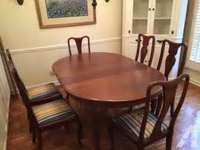 dining room table and chairs antique for sale in