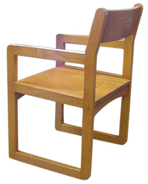 ames wood sled base chair iowa prison industries