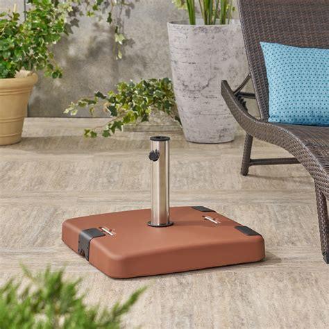 outdoor lb concrete square umbrella base  stainless