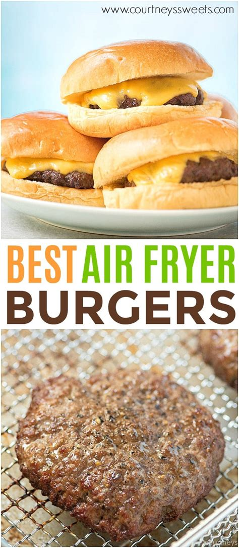 fryer air burgers recipe burger recipes cheeseburger related posts courtney sliders