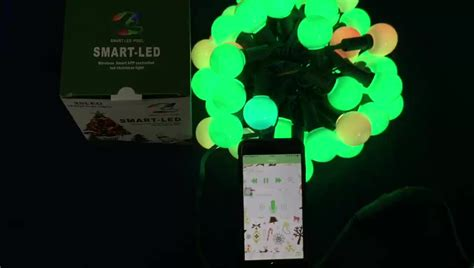 app controlled string lights wireless smart app controlled led g27 christmas light set