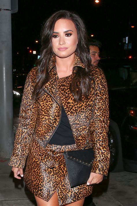 DEMI LOVATO at Catch LA in West Hollywood 10/22/2016 ...