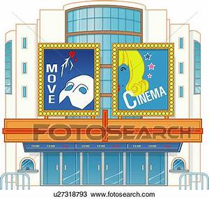 Drawing of Movie Theater u27318793 - Search Clipart ...