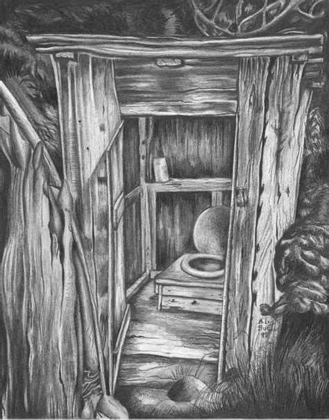 outhouse drawing  anthony hurt