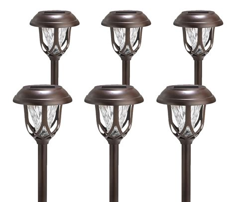 6 pack westinghouse solar powered brown color changing