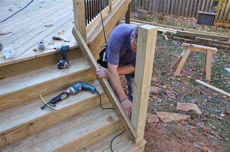 Building & Installing Deck Stair Railings