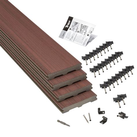 trex moroccan red composite deck board tmm wmm