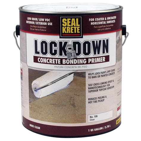 seal krete lock   gal epoxy bonding floor primer