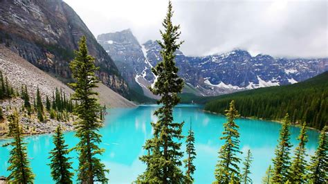 Moraine Lake Banff Alberta Canada Nature Photo Wallpaper
