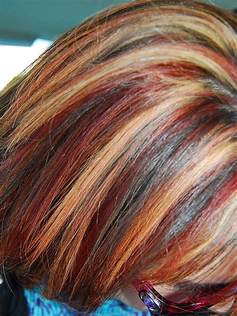 multi color hair styles my multi color highlights
