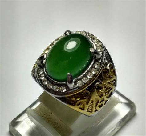 jual cincin batu natural green serpentine aceh aka giok hijau aceh di lapak sulthan gems