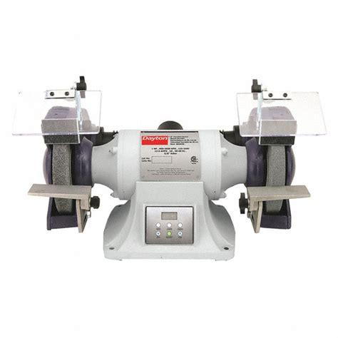 dayton bench grinder dayton 8 quot bench grinder 115v 3 4 hp 3450 max rpm 1 2