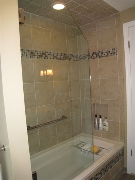 3 tub shower 3 4 frameless tub shower door with cabinets