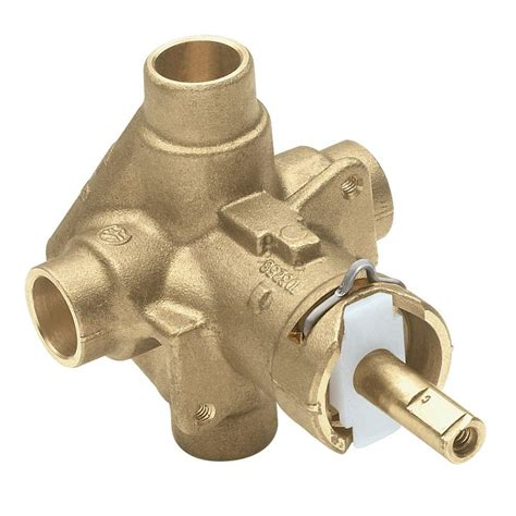 shower valves moen brass in posi temp pressure balancing cycling