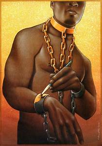 Slave Painting Chains Gold; New Slavery [pic]   April Sims