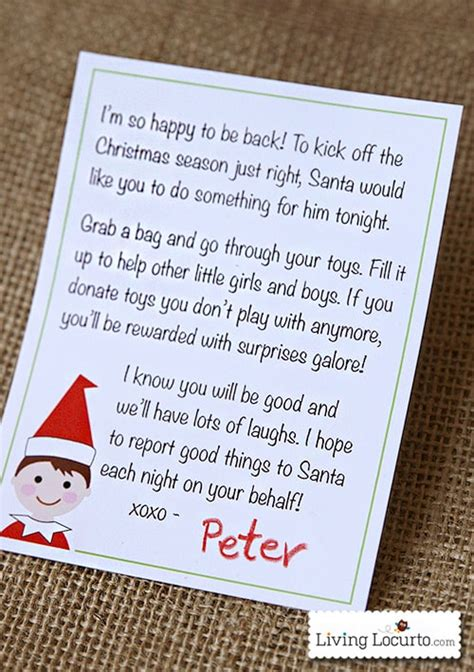 christmas elf printable arrival letter   north pole