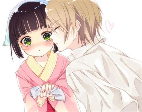 anime couple kiss on cheek ikoku meiro no crois 233 e 706693 zerochan