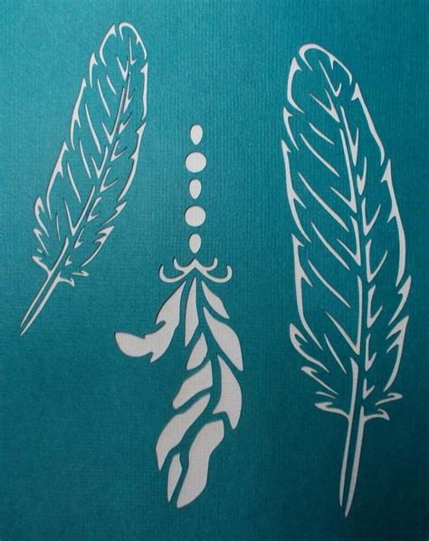 Templates For Stencils by Scrapbooking Stencils Templates Masks Sheet Feathers X