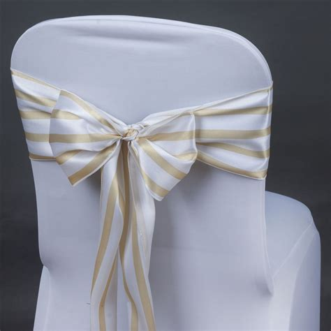10 satin stripes chair sashes bows ties wedding