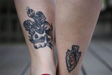 nice skull tattoos  ankle