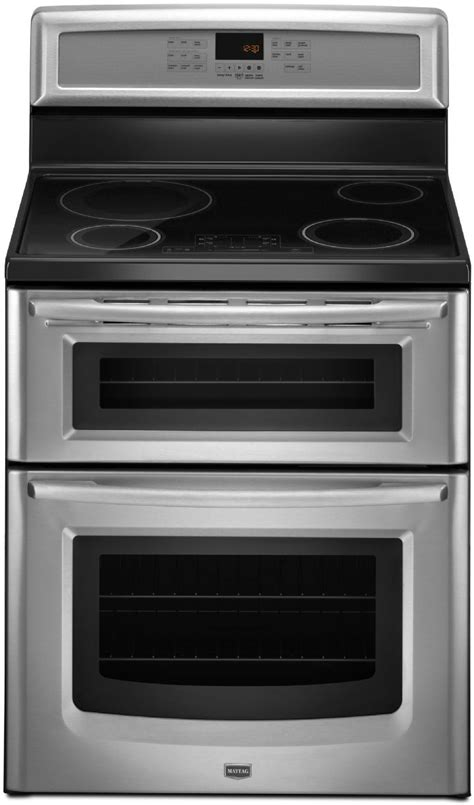maytag mitbs freestanding induction double oven range