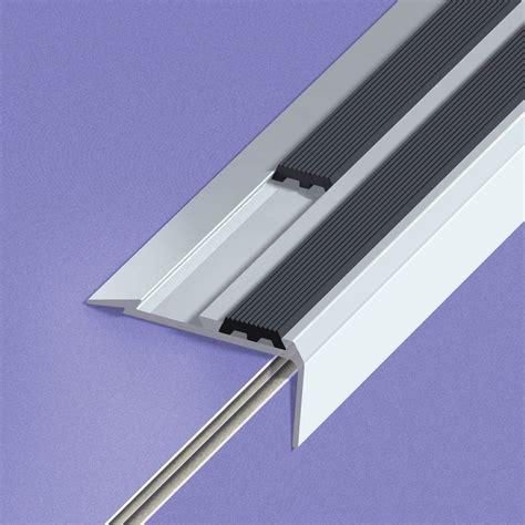 nez de marche aluminium anodis 233 gris l 170 x l 4 cm leroy merlin
