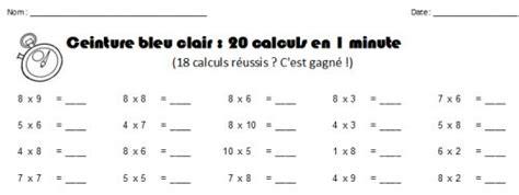 ceintures de tables de multiplication fle charivari multiplication and tables