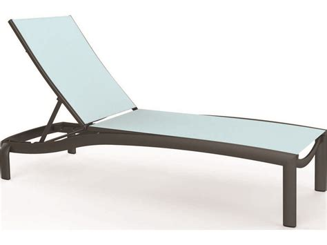 chaises aluminium tropitone kor relaxed sling aluminum chaise lounge armless