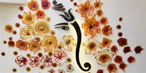 wall art ganesh  flowers     kitengela hot glass