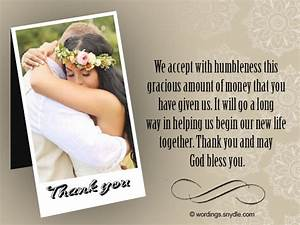 thank you message for wedding gift money imbusy for With wedding gift thank you notes