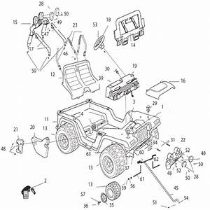 Power Wheels Barbie Jammin Jeep W   Bounus Barbie Parts