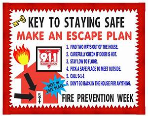 Fire Safety Week! Do you have an escape plan? | ArtSkills ...