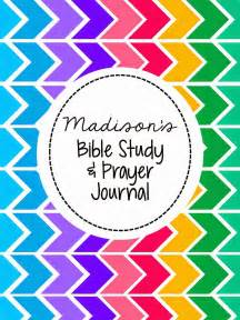 My Bible Study Journal Cover Page