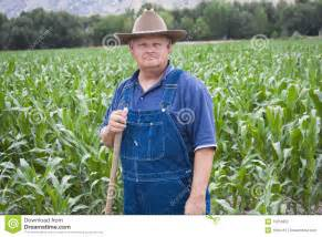 Old Farmer Wearing Overalls