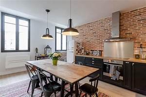 Cuisine Style Industriel Bois : cuisine style industriel fort salier photo n 56 domozoom ~ Teatrodelosmanantiales.com Idées de Décoration