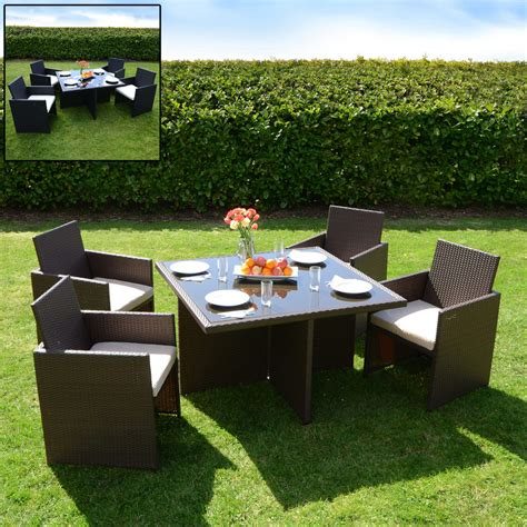 monaco aluminium rattan wicker cube patio garden furniture
