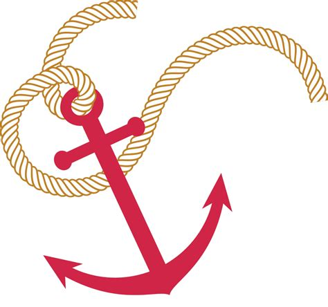 Anchor with Nautical Rope Clip Art