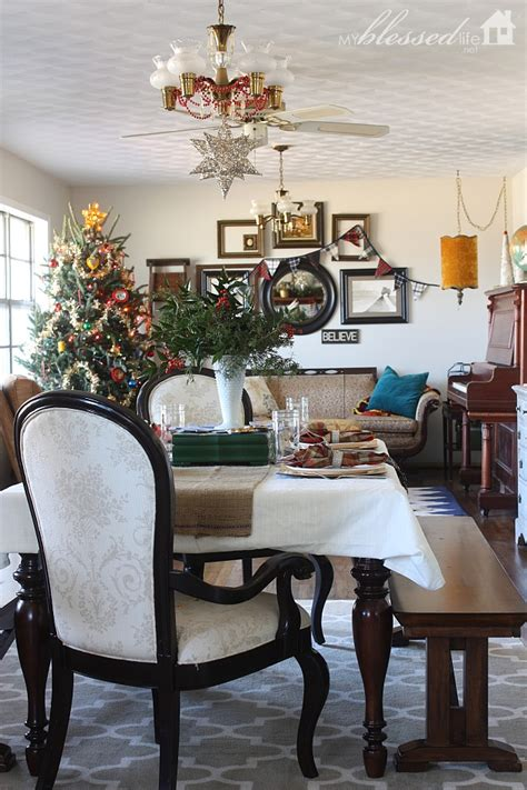 hometalk woodsy glam christmas home