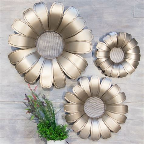 Ships free orders over $39. Wire Mesh Middle Metal Flower Wall Decor, Set of 3 ...