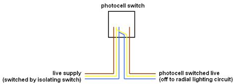 wiring a photocell switch unit but not quot inline quot