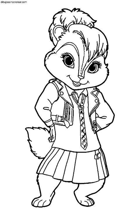 dibujos sin colorear dibujos de alvin  las ardillas
