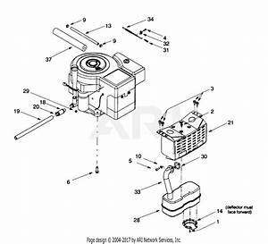 Troy Bilt 13ad609g063  2000  Parts Diagram For Muffler