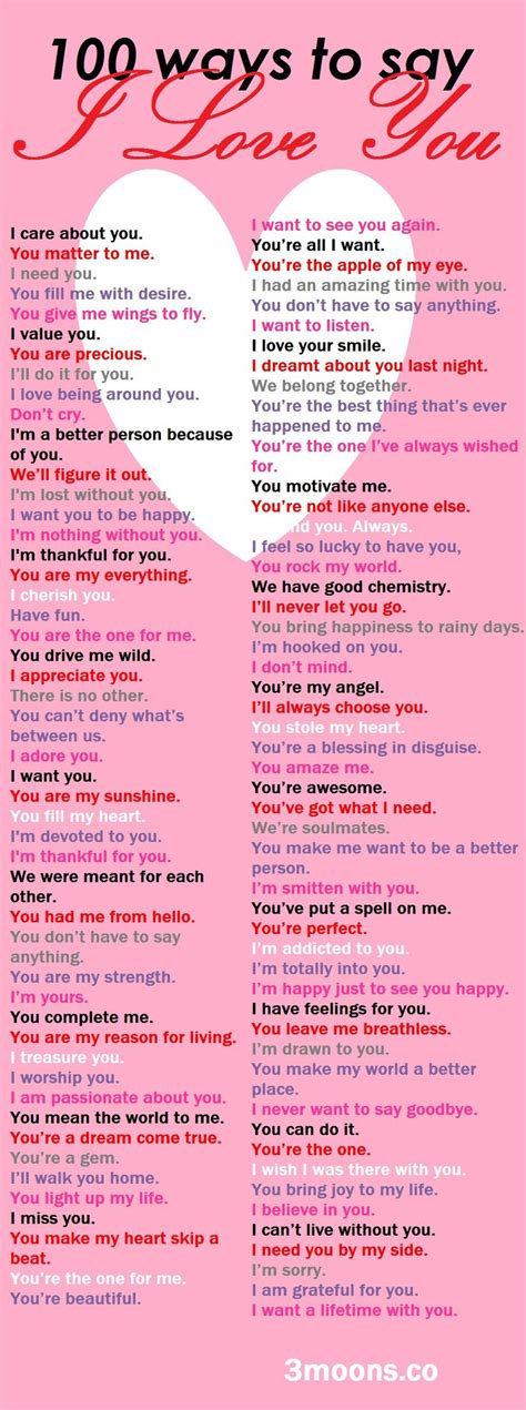 100 Ways To Say I Love You  Inspired  Pinterest  Wings, Future Love And I Love