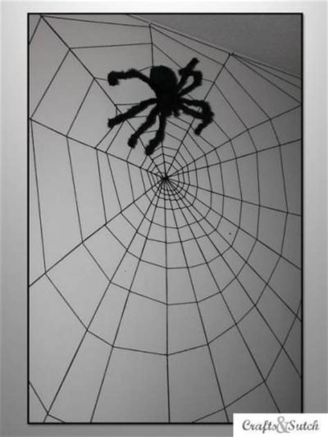 How To Decorate With Spider Web - how to make a spider web wall decorate tip junkie