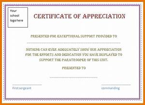 certificate of appreciation template word incheonfair With microsoft word certificate of appreciation template