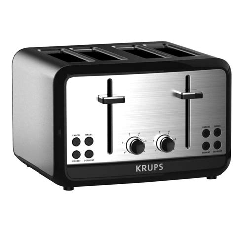 Stainless Steel 4 Slice Toaster by Krups Savoy 4 Slice Stainless Toaster Kh314050 The Home