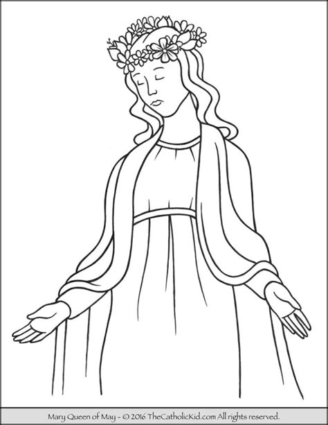 mary coloring pages images  pinterest catholic