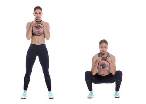 kettlebell squat goblet exercises woman squats exercise strong wellme runners running funny technique reps fitness benefits preview eight run